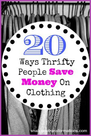 20 ways thrifty people save money on clothing (med)