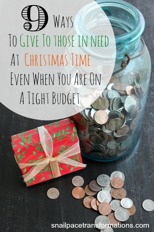 9 ways to give to those in need at Christmas time even when you are on a tight budget