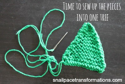 Christmas tree ornament sewing the sides