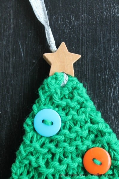 Christmas tree ornament star on top