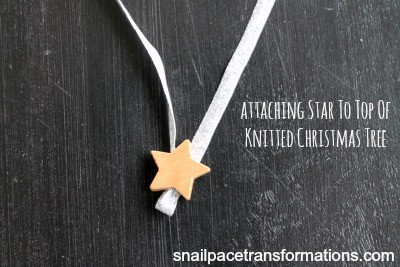 Christmas tree ornamentattaching star