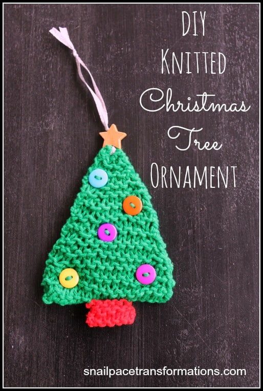 DIY Knitted Christmas Tree Ornament