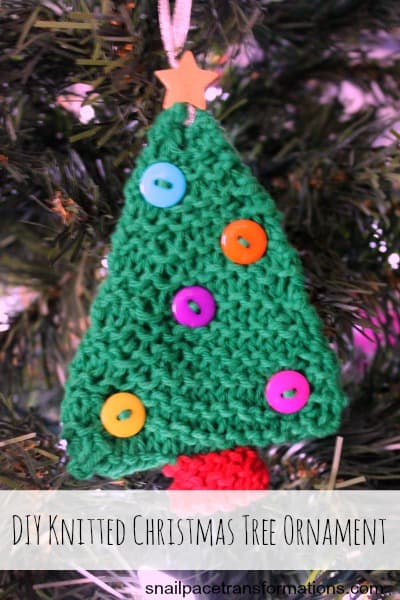 DIY Knitted Christmas Tree Ornament Step by Step tutorial