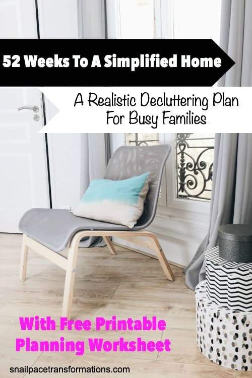 No time to declutter? This plan will help break down the decluttering you need to do into managable time slots. Say goodbye to that clutter for good!