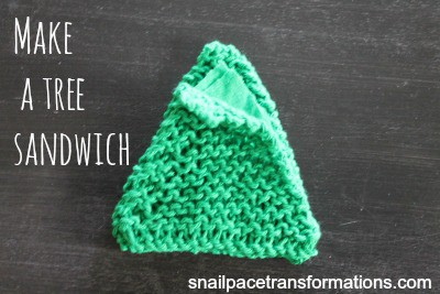 make a tree sandwich Christmas tree ornament