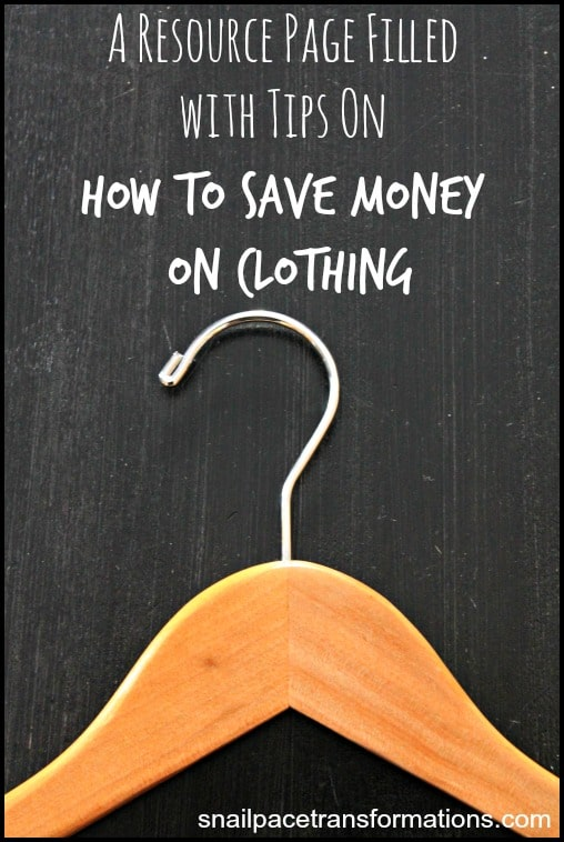 A resource page filled with ways to save money on clothing for the entire family