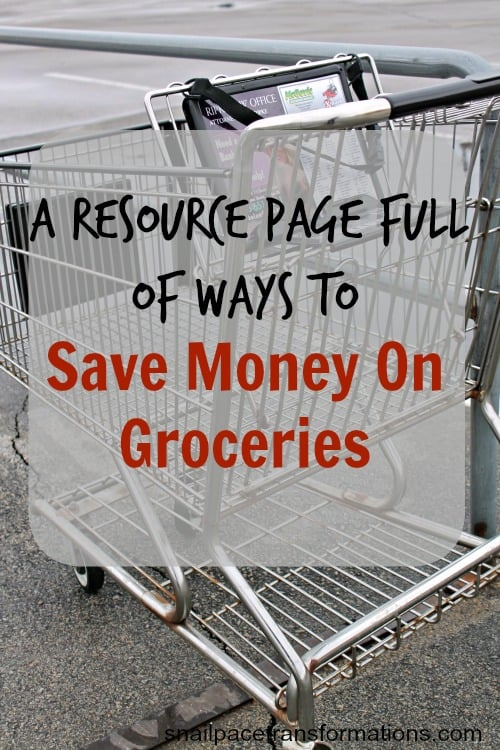 A resource page full of ways to save money on groceriesfull of great tips, apps, and coupon sources