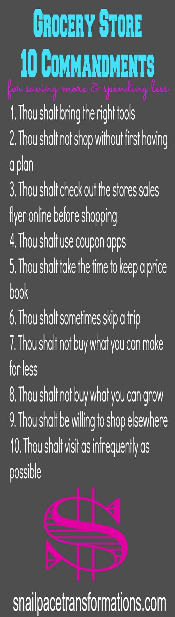 Grocery Store 10 Commandments For Saving More & Spending Less