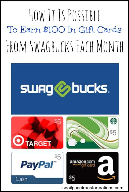 How it is possible to earn $100 in gift cards from Swagbucks each month