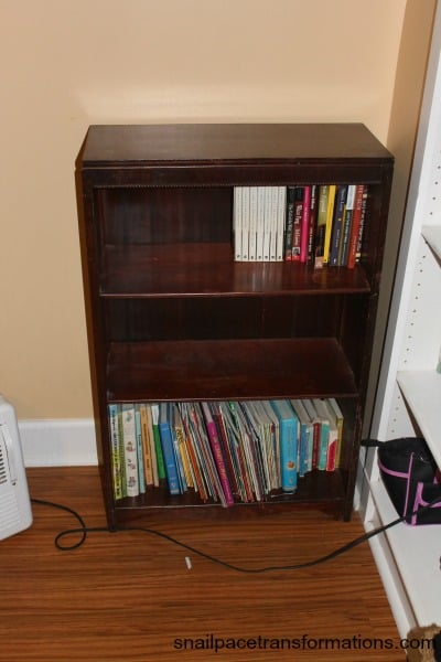 book case with space