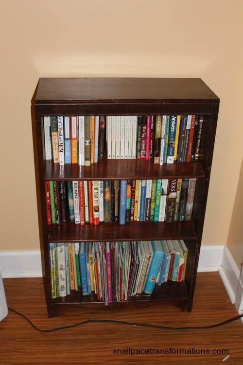 book shelf refilled