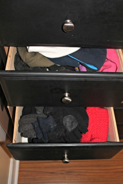 glove and hat drawer