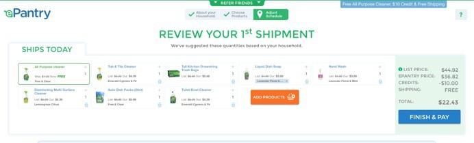 shipment ePantry
