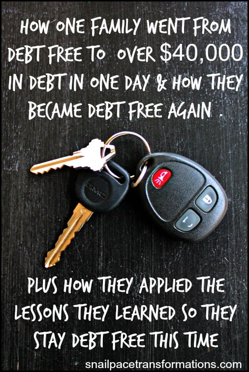 How one family went from debt free to in debt to debt free again and the lessons they learned from it.