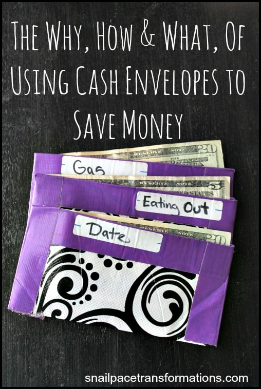 The why how and what of using cash envelopes to save money