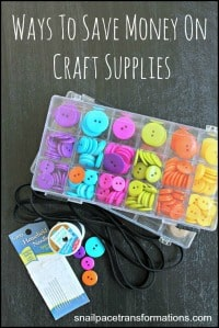 Ways to save money on craft supplies as well as craft lessons (button)