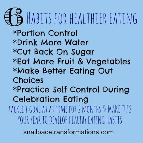 healthier eating goal steps
