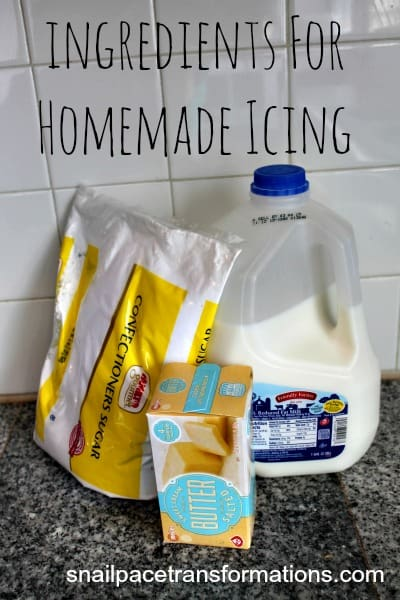 indgredients for homemade icing
