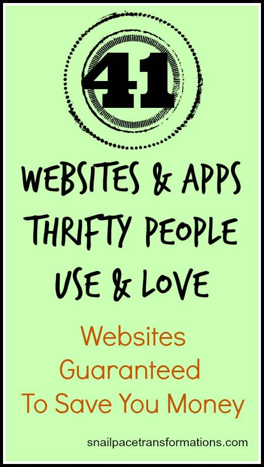 41 websites and Apps thrifty people use and love websites guaranteed to save you money