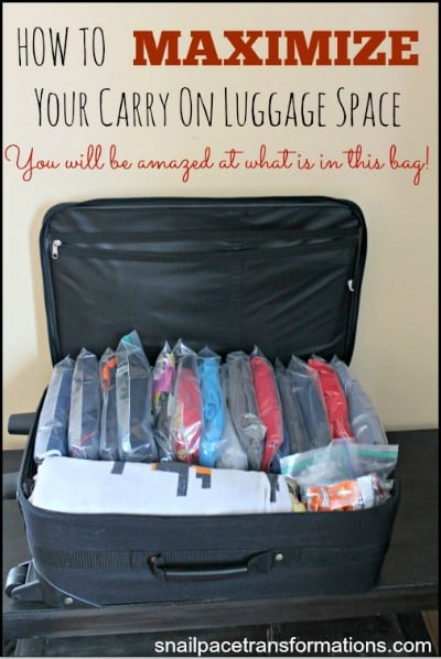 How to maximize your carry on luggage space I can't believe what fit in this bag! (med)