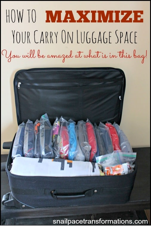 How to maximize carry on luggage space How to pack a carry on suitcase video