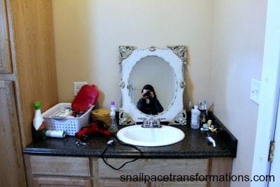 Our messy bathroom counter