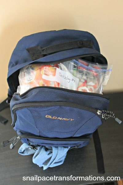 back pack as personal item for carry on