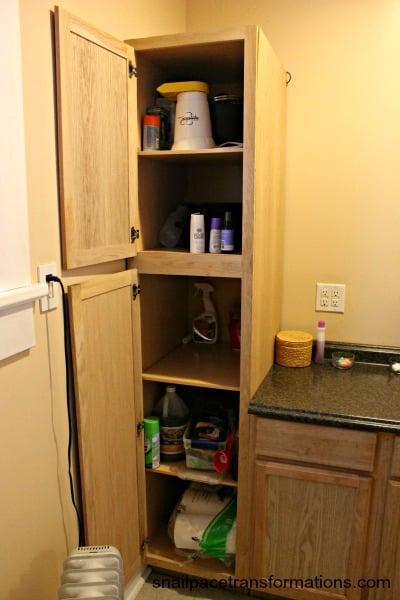 bathroom cabinet popcorn maker