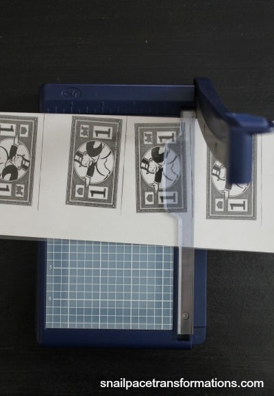 small paper cutter for chore money