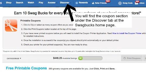 swagbucks coupon