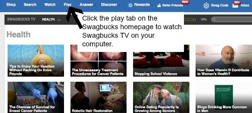 Swagbucks the one stop rewards program Home and garden tv channel