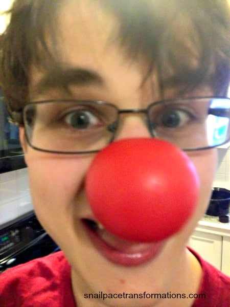 Thomas and the clown nose too funny