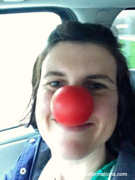 Victoria and the clown nose too funny