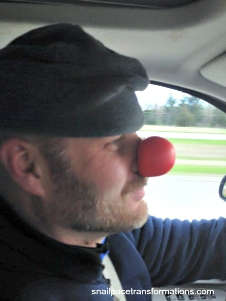 jack and his clown nose got to love it