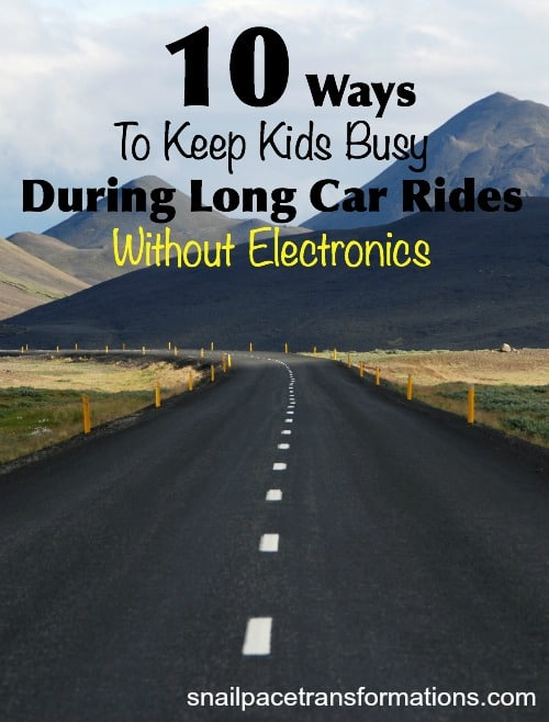10 ways to keep kids busy during long car rides without electronics