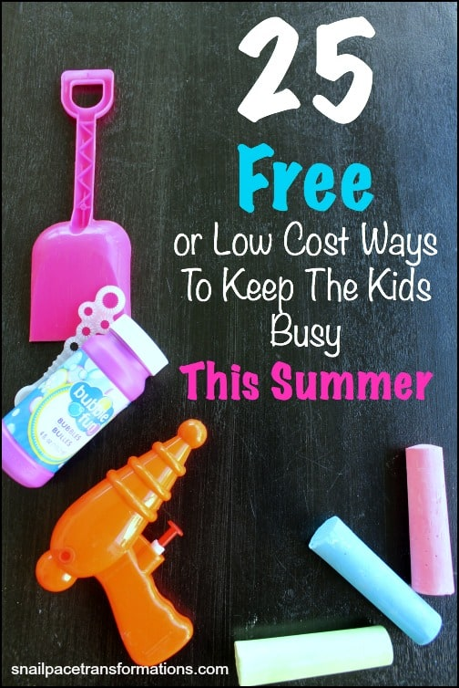 25 free or low cost ways to keep the kids busy this summer