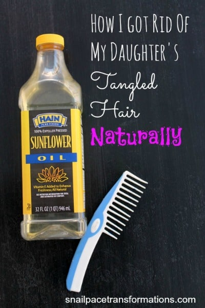 How I got rid of my daughter's tangled hair naturally (med)