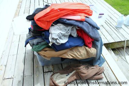 big coat pile