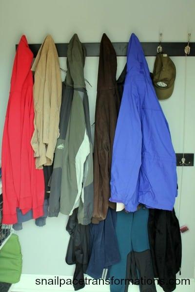 coats hung up