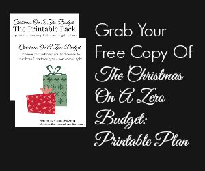 Subscribe and get a free copy of my Christmas on a Zero Budget: Printable Plan