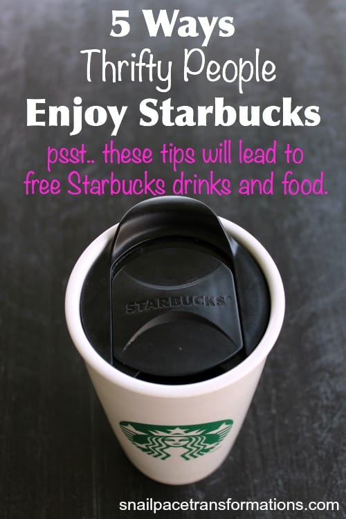 5 ways thrifty people enjoy Starbucks Sometimes even for free.