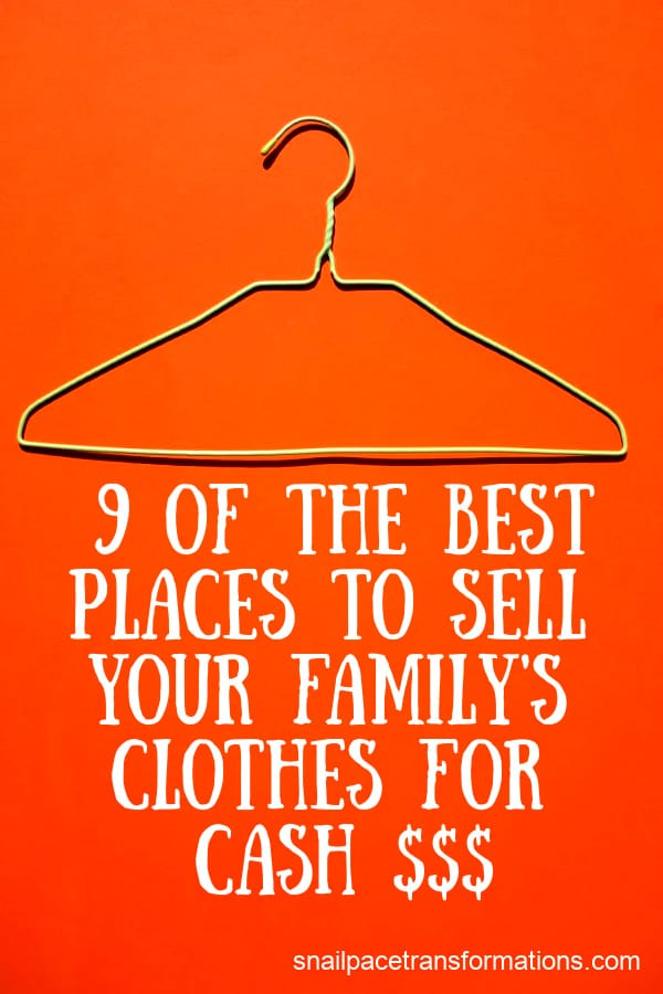 9 Of The Best Places To Sell Your Family's Clothes For Cash