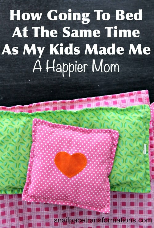 How going to bed at the same time as my kids made me a happier mom