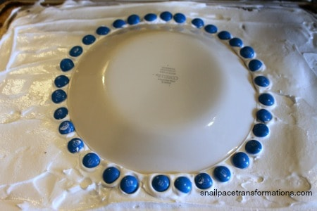 blue ring around plate on ice cream sandwich cake