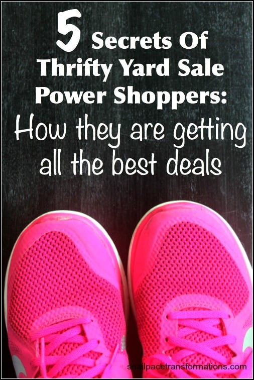 5 secrets of thrifty yard sale power shoppers How they are getting the best deals