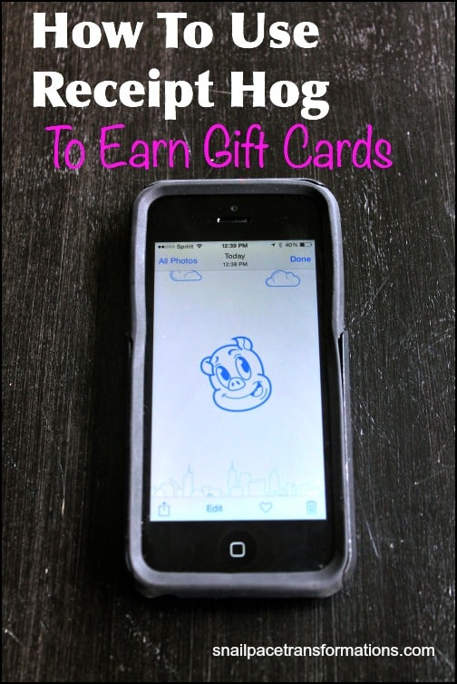 How to use Receipt Hog to earn gift cards