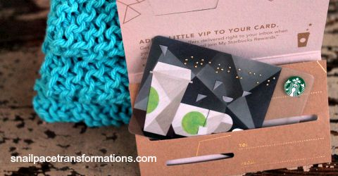 starbucks & dishcloth giveaway
