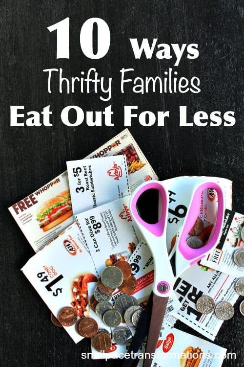 10 Ways Thrifty Families Eat Out For Less