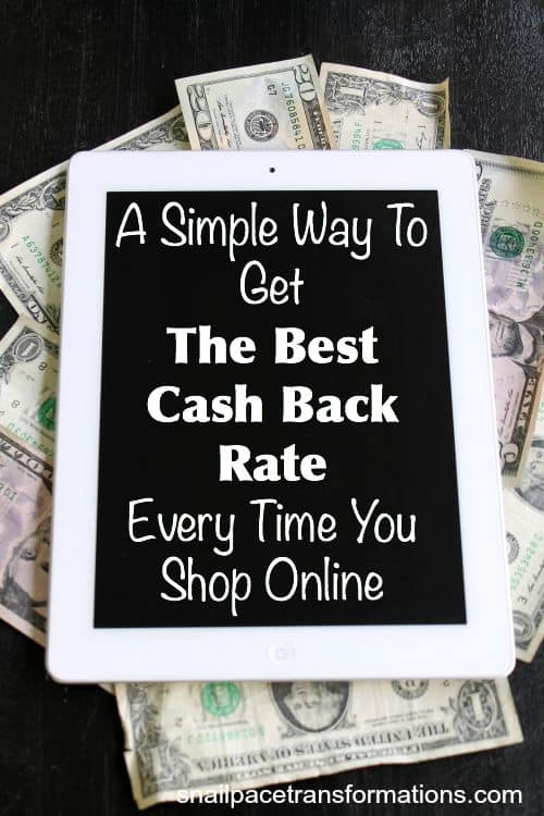 How to get the best cash back rate on every online purchase with just one step
