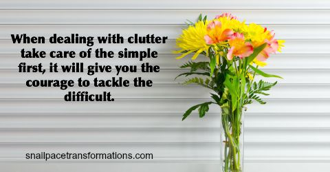 How To Deal With Clutter When You Seem Frozen By It | Snail Pace Transformations